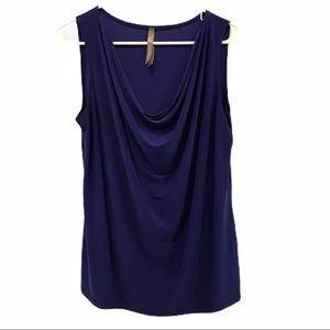 Purple Penningtons cowl neck sleeveless top 1x